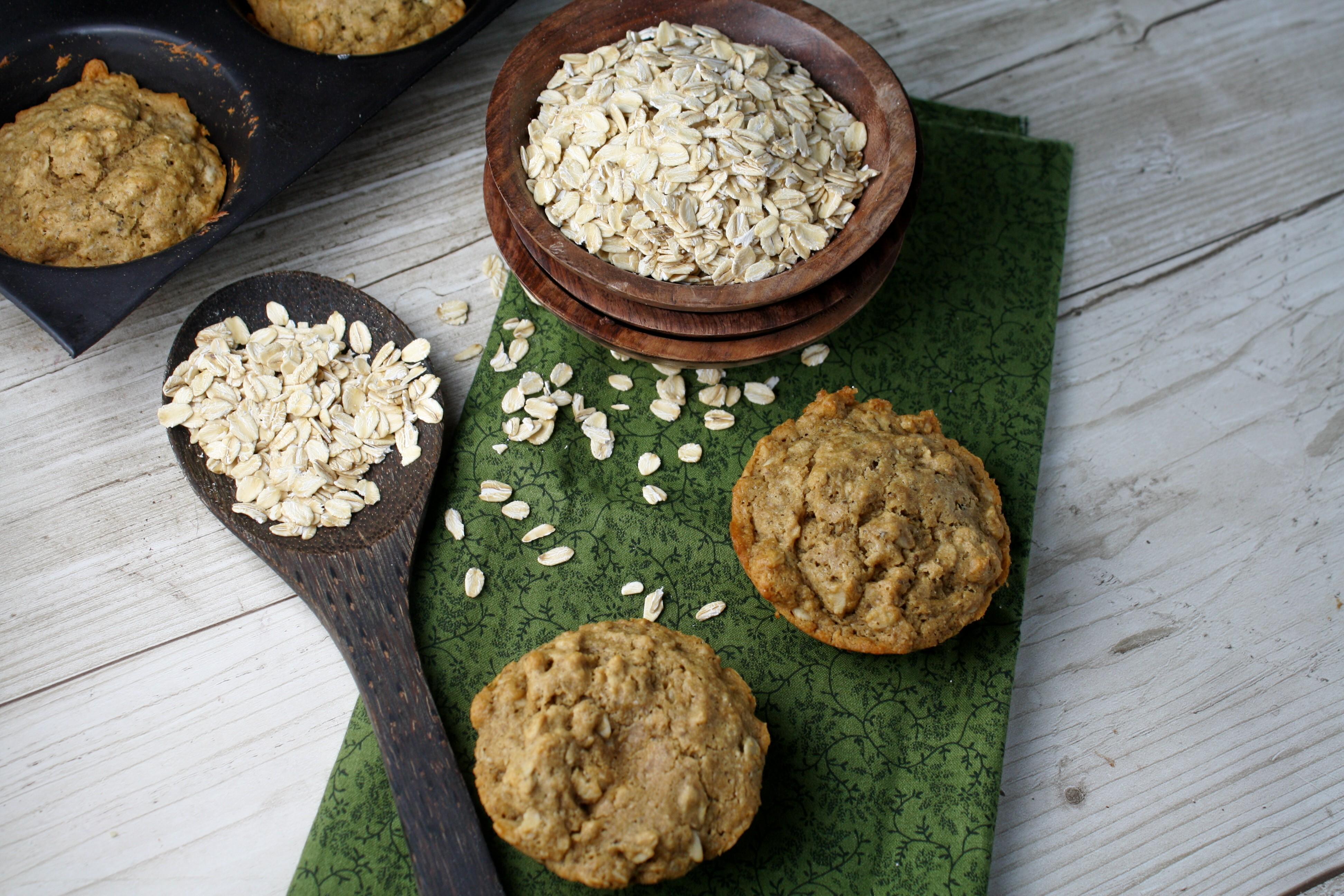 Oatmeal Muffins, Gluten Free & Vegan | Tessa the Domestic Diva