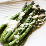 Grilled Asparagus w/ Garlic Lemon Aioli