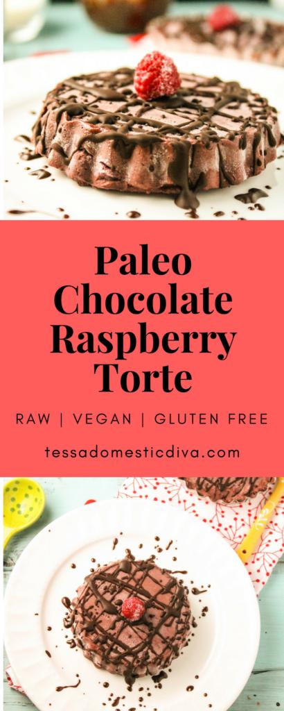Chocolate Raspberry Torte #glutenfree #vegan #paleo #raw #raspberries #chocolate