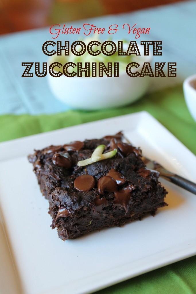 Gluten Free Vegan Chocolate Zucchini Cake