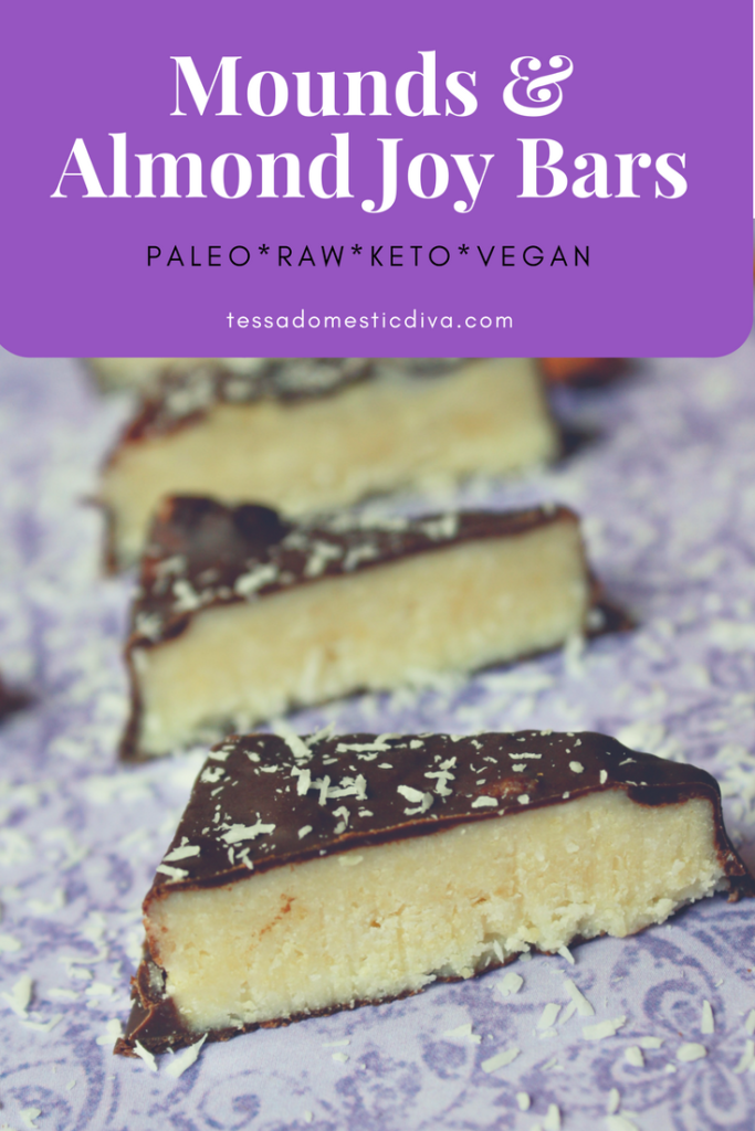 Paleo*Keto*Raw*Vegan Almond Joy Bars