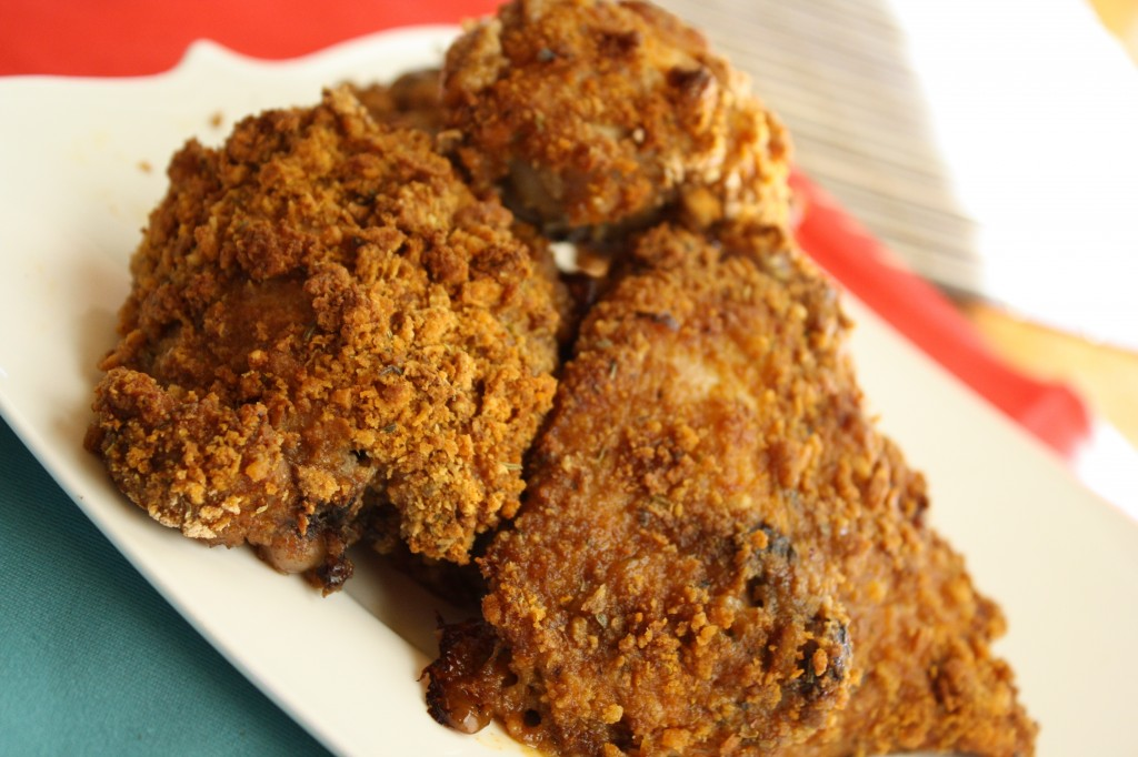 Oven Fried Chicken - Gluten & Egg Free