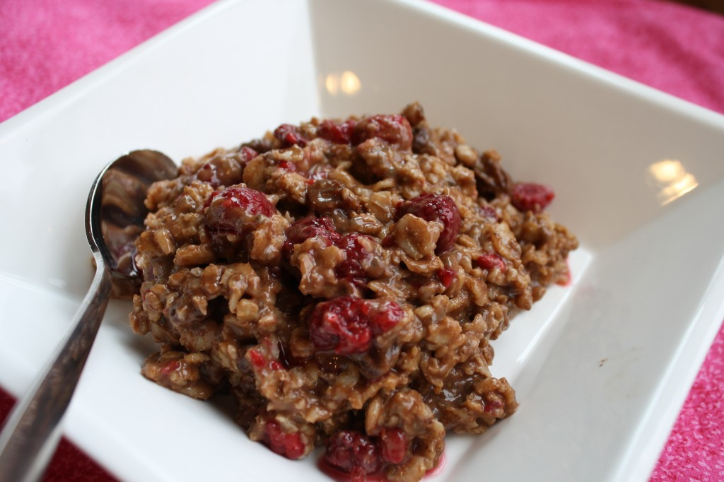 Chocolate Raspberry Oatmeal