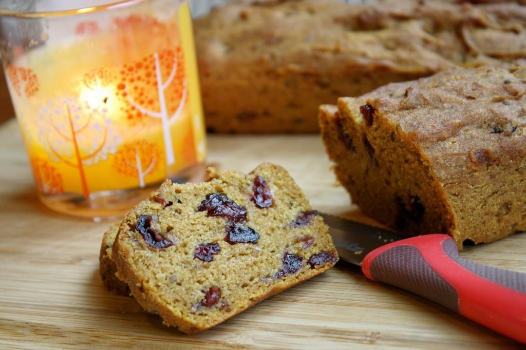 Pumpkin Cranberry Bread - Gluten Free & Vegan