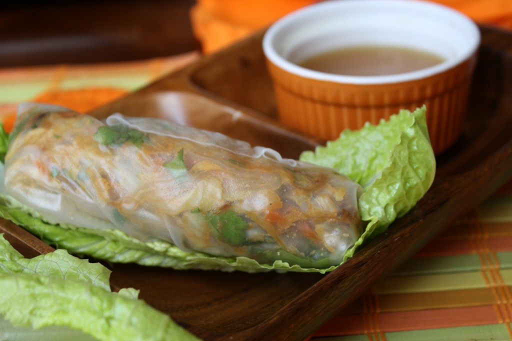 Vietnamese Salad Rolls w/ Dipping Sauce - Gluten & Soy Free