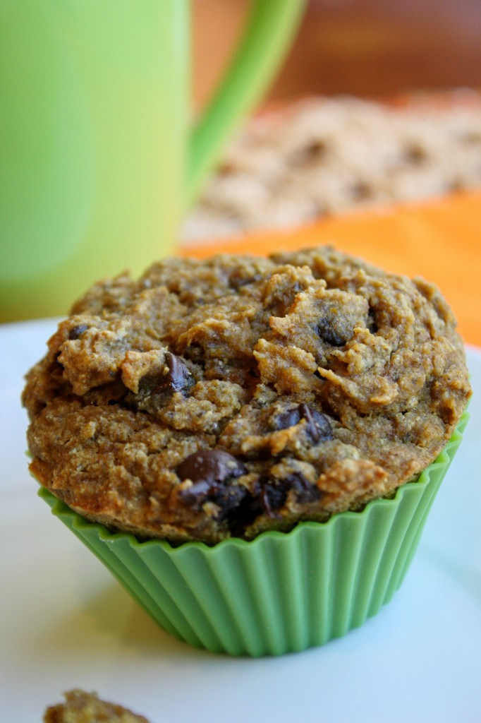 Pumpkin Chocolate Chip Muffins -Gluten Free & Vegan