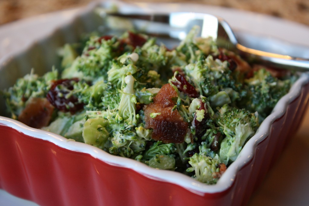 Paleo Broccoli Bacon & Cranberry Salad