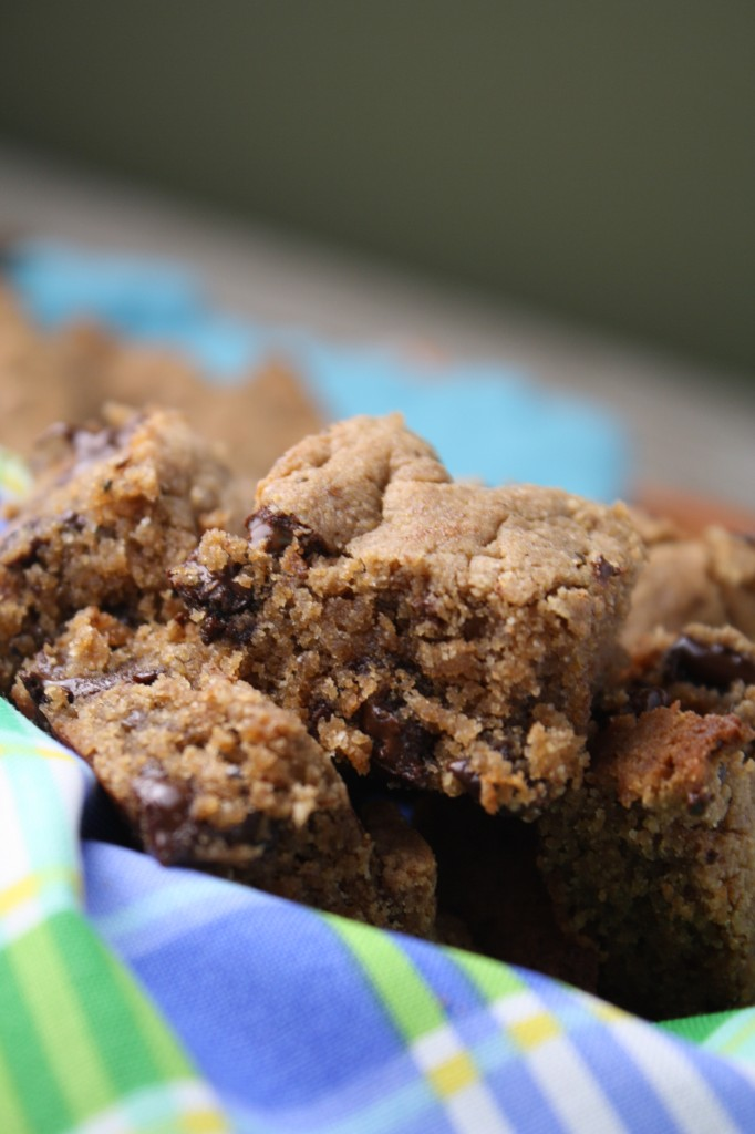"'Peanut Butter"" Blondies - Gluten Free & Vegan, Nut Free"