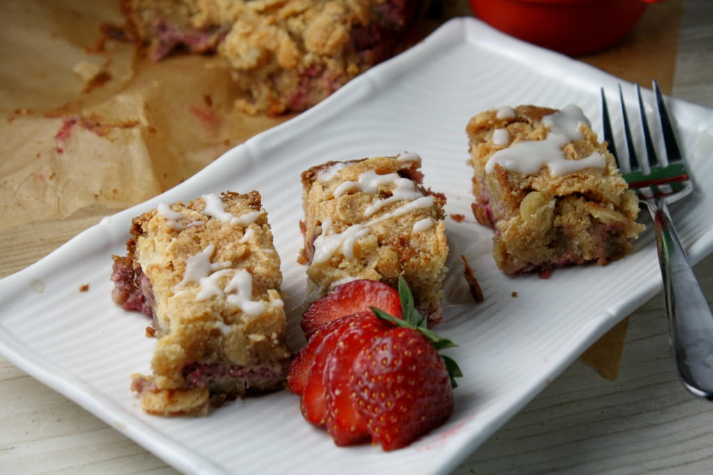Paleo Strawberry Almond Coffee Cake