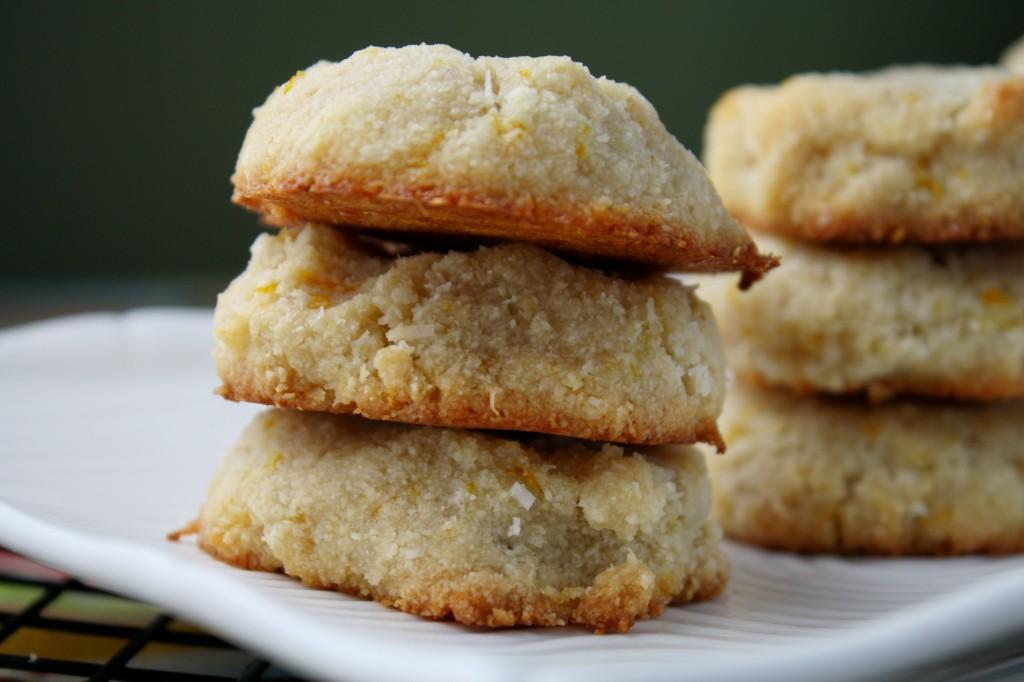 grain egg free orange almond cookie