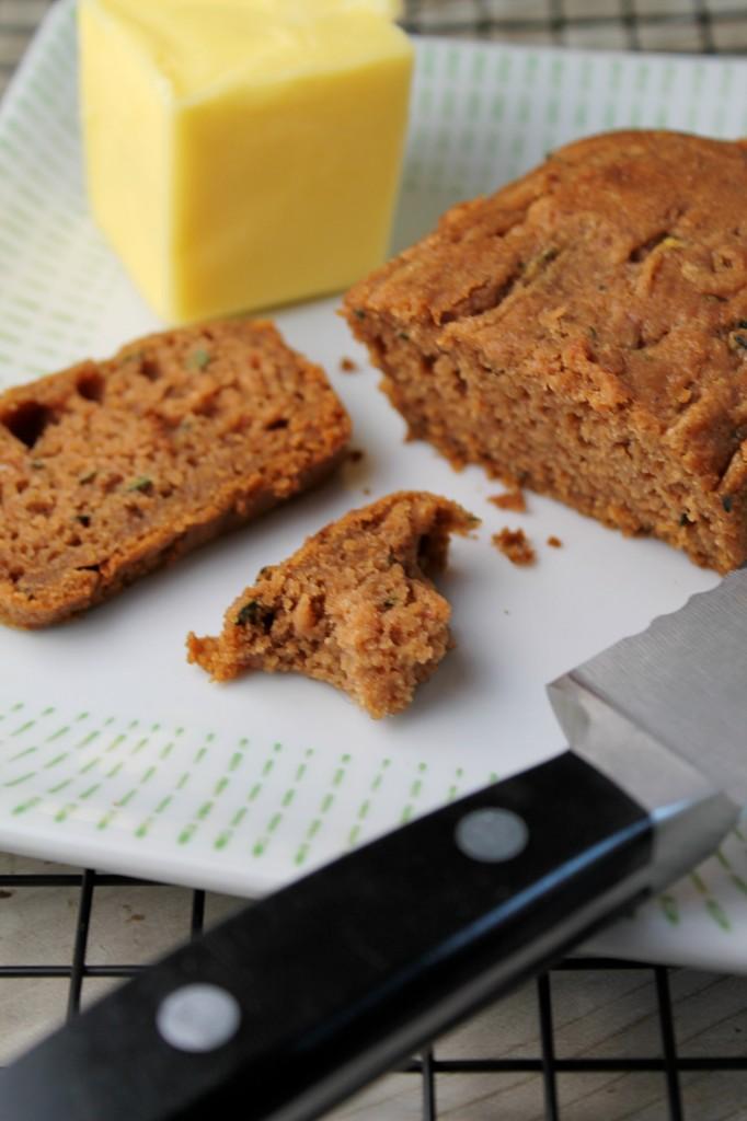 Healthier Zucchini Bread - Gluten Free & Vegan