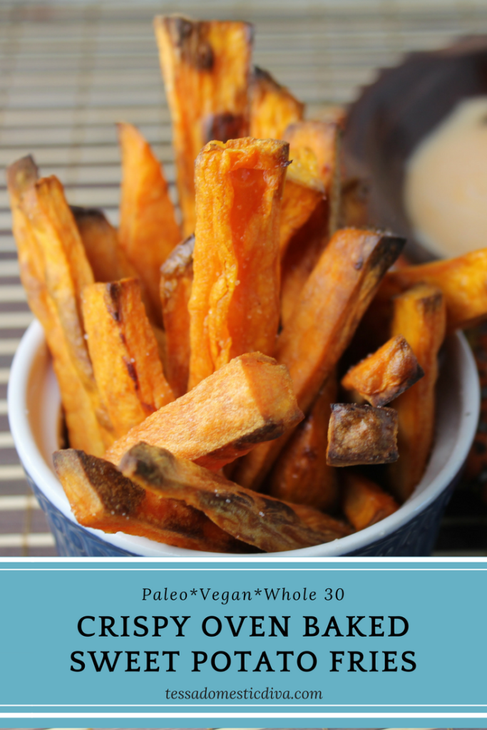 Crispy Paleo Oven Baked Sweet Potato Fries - Tessa the ...