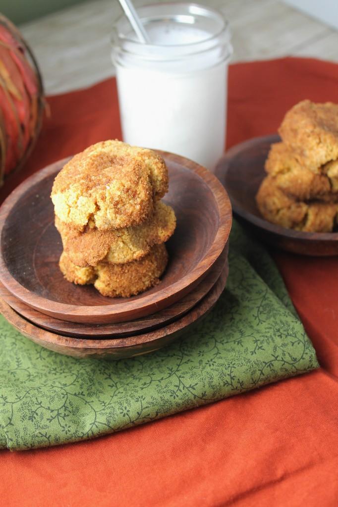 Pumpkin Snickerdoodles - Paleo, Grain-Free, & Vegan