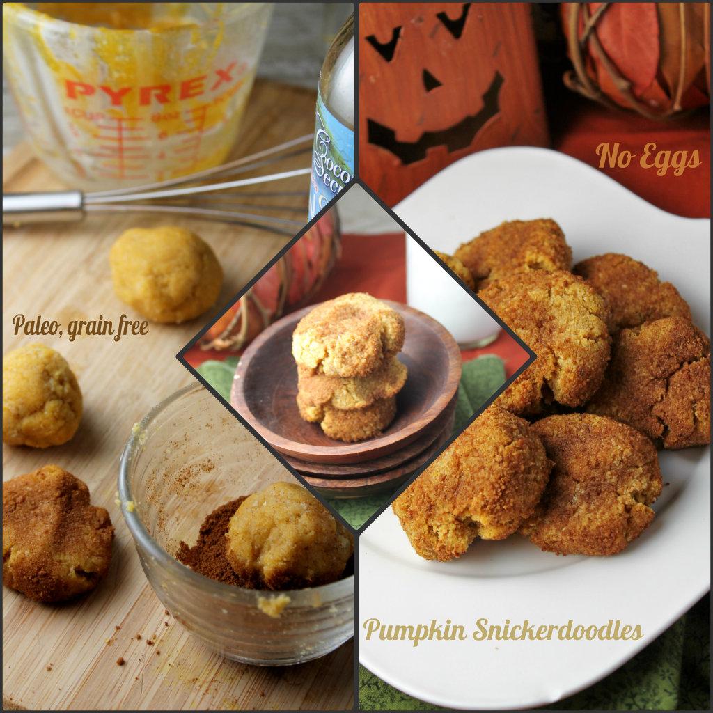 Pumpkin Snickerdoodles - Paleo, Grain Free & Vegan