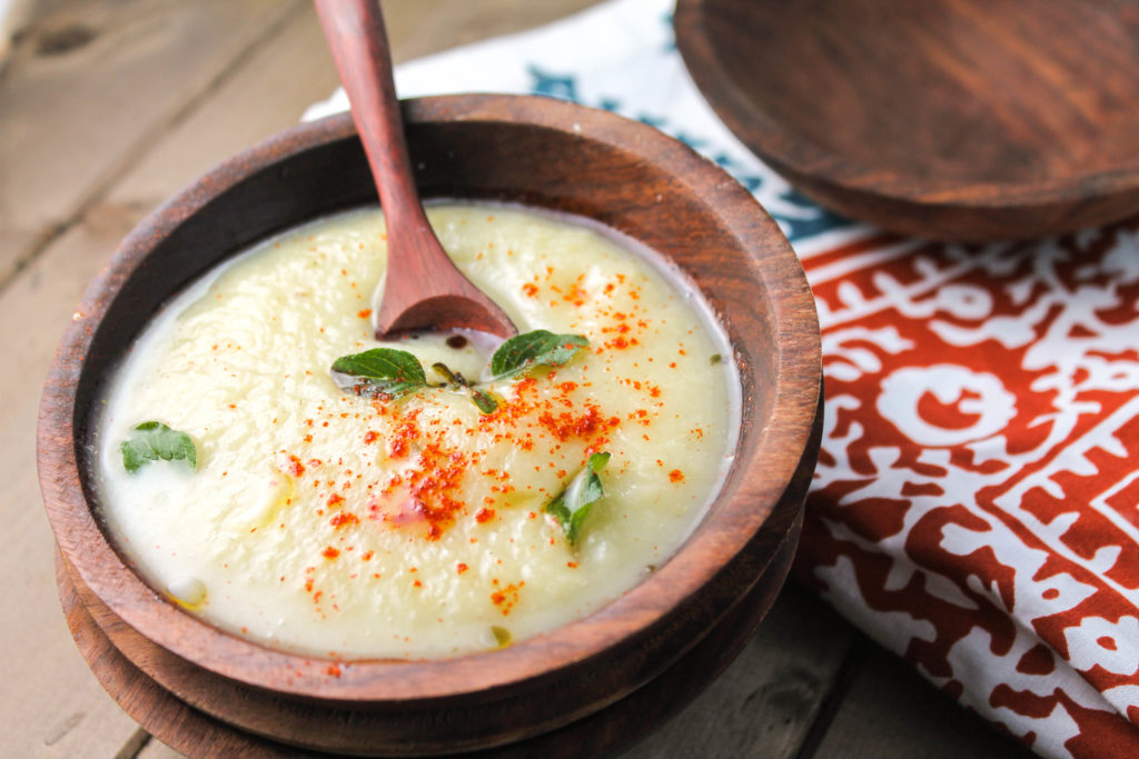 Creamy Root Vegetable Soup #paleosoup #whole30soup #rootvegetables #vegansoup