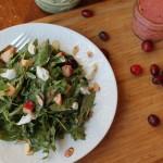 Hearty Mixed Green Salad w/ a Cranberry Vinaigrette