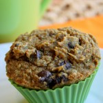 Pumpkin Chocolate Chip Muffins - Gluten Free &amp; Vegan