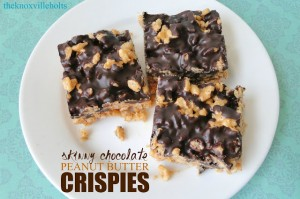 Skinny Chocolate Peanut Butter Crispies