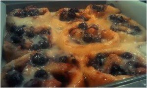 Blueberr Cinnamon Rolls - Gf & Vegan