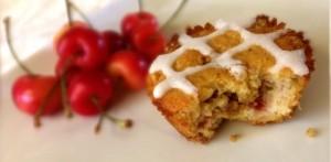Cherry Alomd Muffins - Gluten & dairy Free