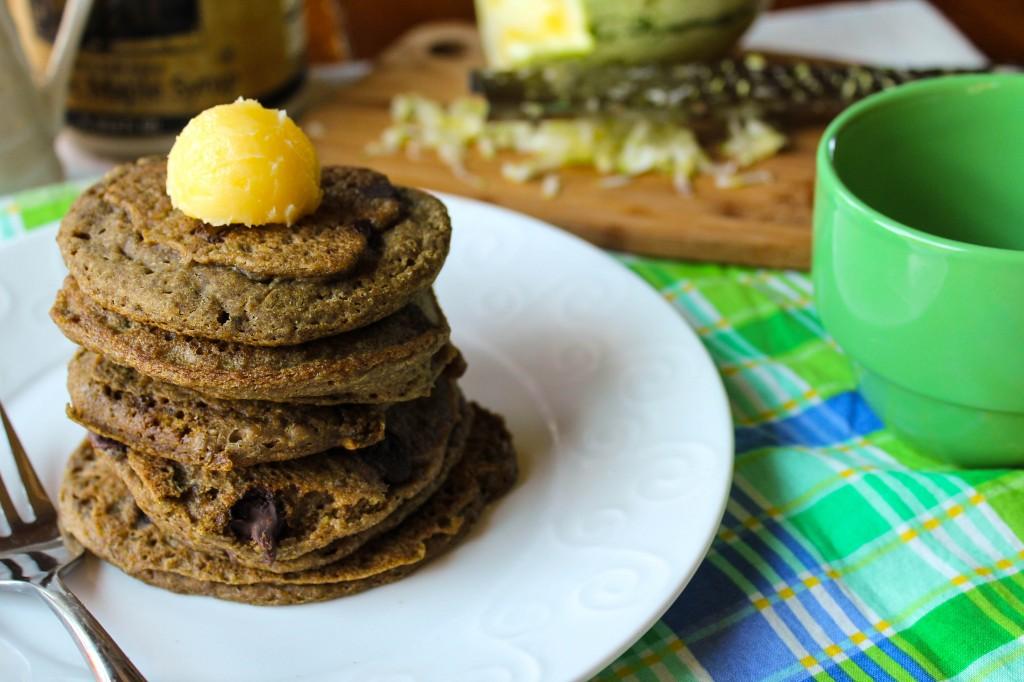 Zucchini Chocolate Chip Pancakes - Gluten Free & Vegan-3438