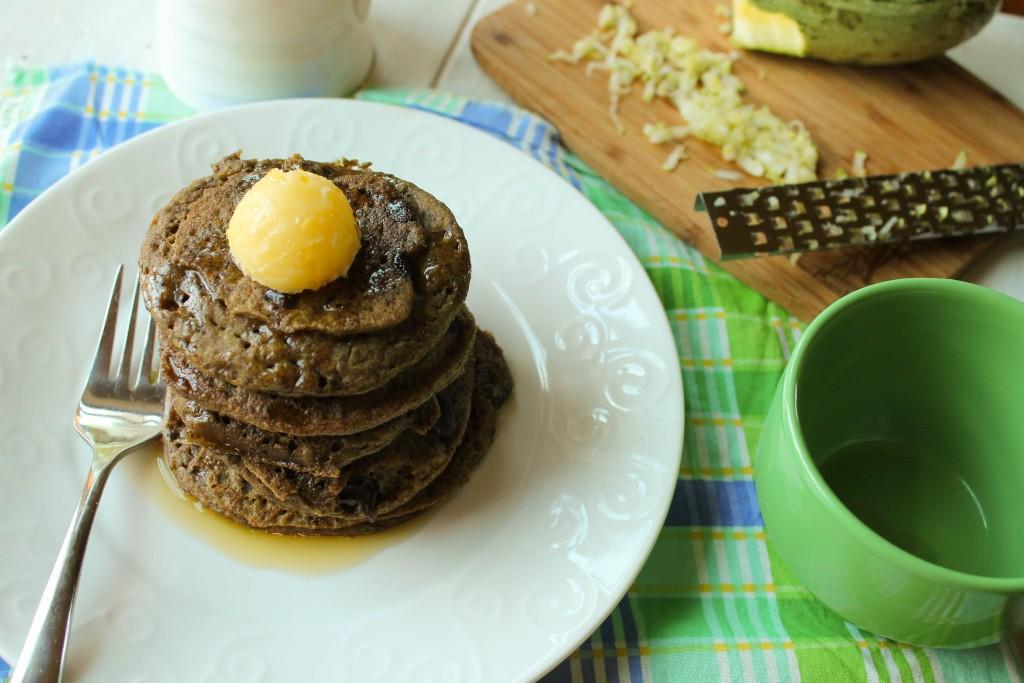 Zucchini Chocolate Chip Pancakes - Gluten Free & Vegan-3449