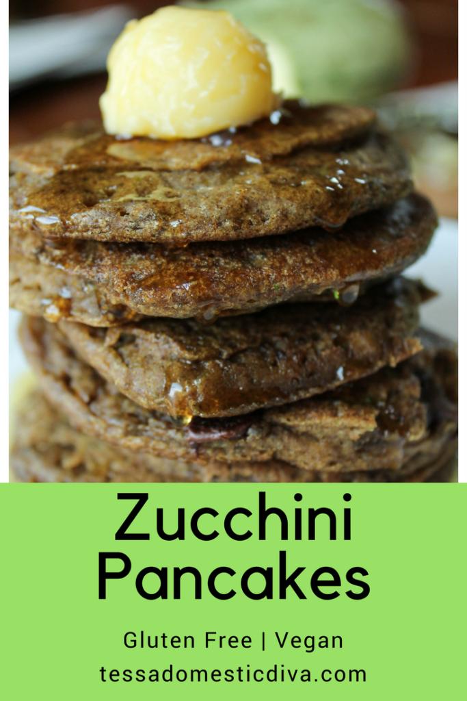 Zucchini Pancakes - Gluten Free | Vegan