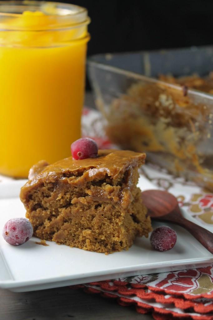 Pumpkin Bars w- Caramel Frosting Gluten Free & Vegan-4034
