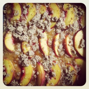 Peach bars - Gluten Free & Vegan
