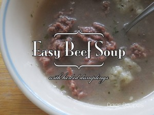Easy Beef Soup w/ Dumplings