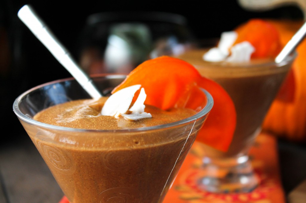 Paleo Pumpkin Persimmon Smoothie or Pudding-4700