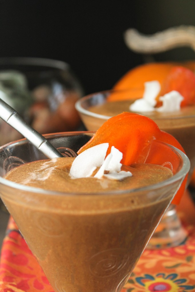 Paleo Pumpkin Persimmon Smoothie or Pudding-4703