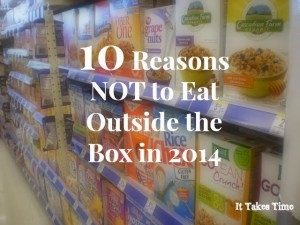 10 Reasons NOT  to Change Your Diet