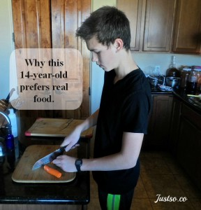 Why This 14 Year Old Prefers Real Food (In His Own Words)