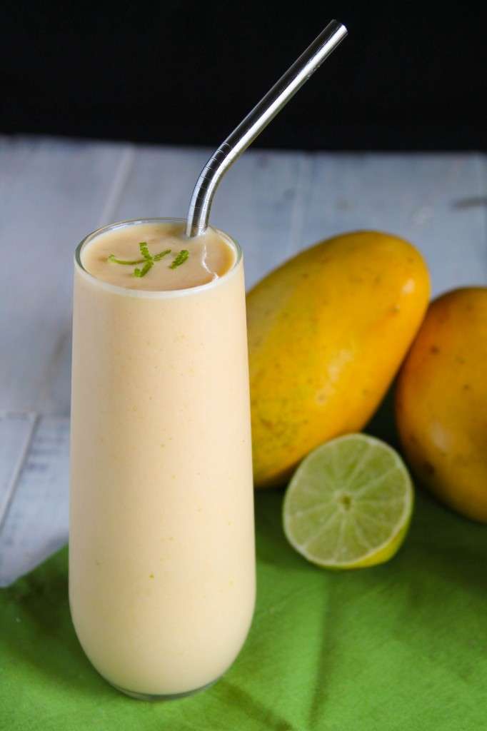 Mango, Lime & Kombucha Smoothie - Paleo, Nut Free, Whole 30-5265