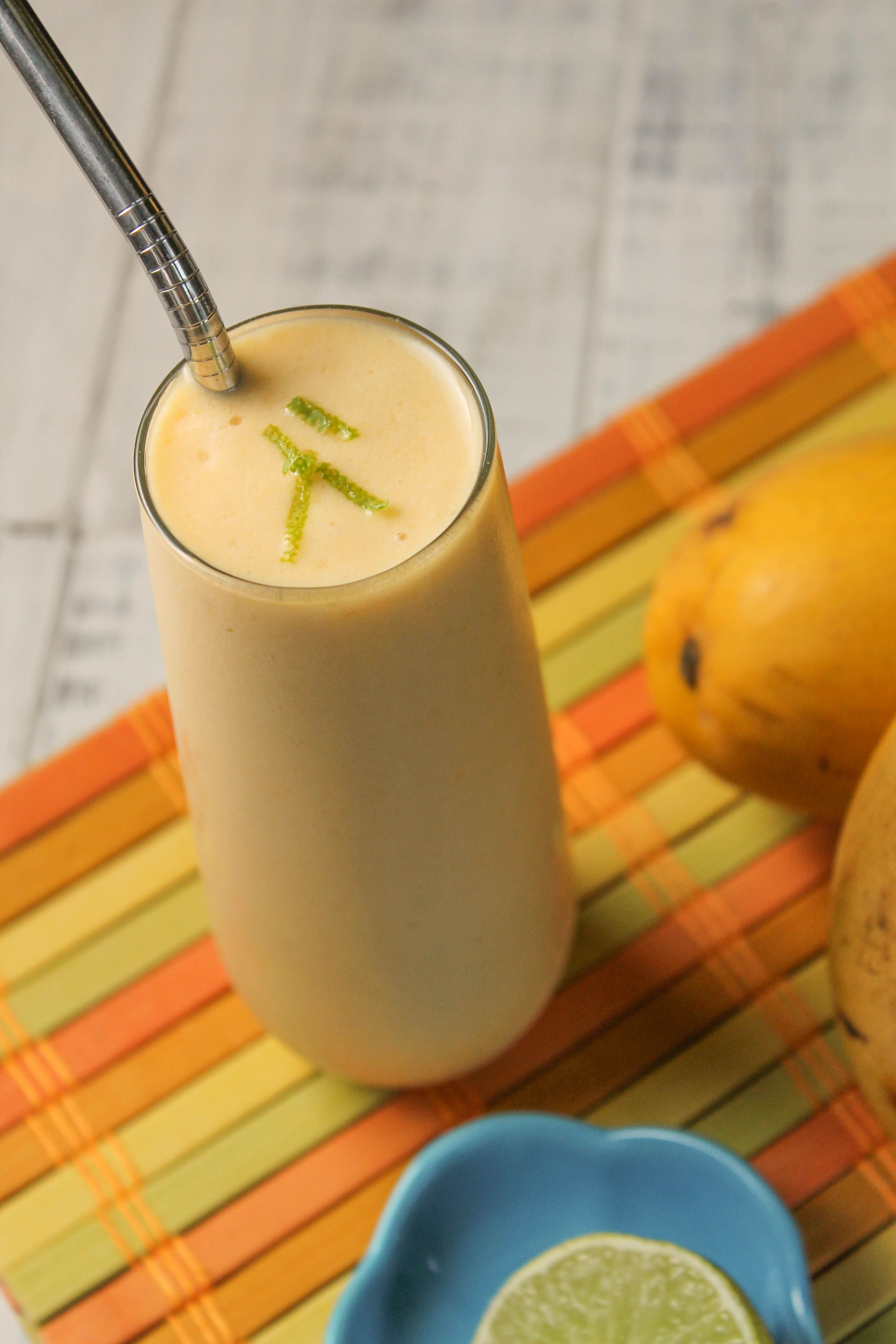 Mango, Lime & Kombucha Smoothie - Paleo, Nut Free, Whole 30-5283