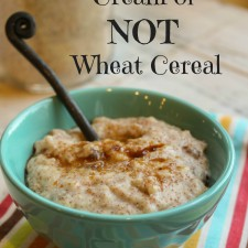 Gluten Free 'Cream of NOT Wheat' Hot Cereal