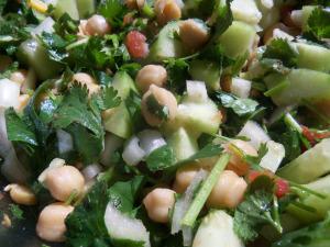 Cucumber, Cilantro Salad