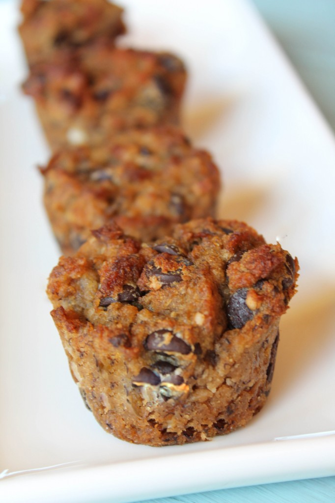 Paleo, Egg Free, Nut Free Banana Bread Muffins-5566
