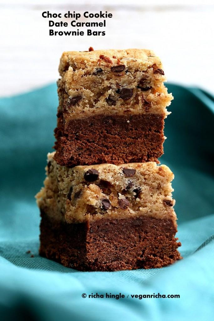 cookie brownie bars - vegan