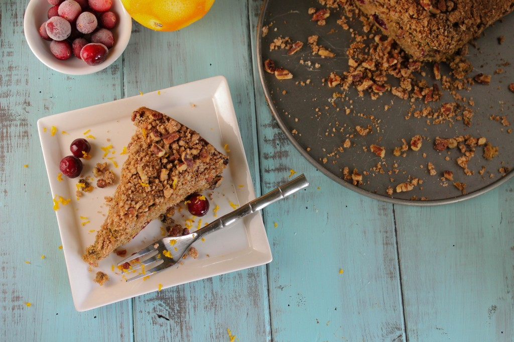 Gluten Free & Vegan Blender Coffee Cake - Cranberry & Orange-5705