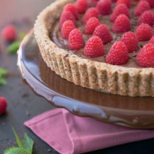 Paleo Chocolate Raspberry Tart & The Whole Life Nutrition Cookbook #Giveaway