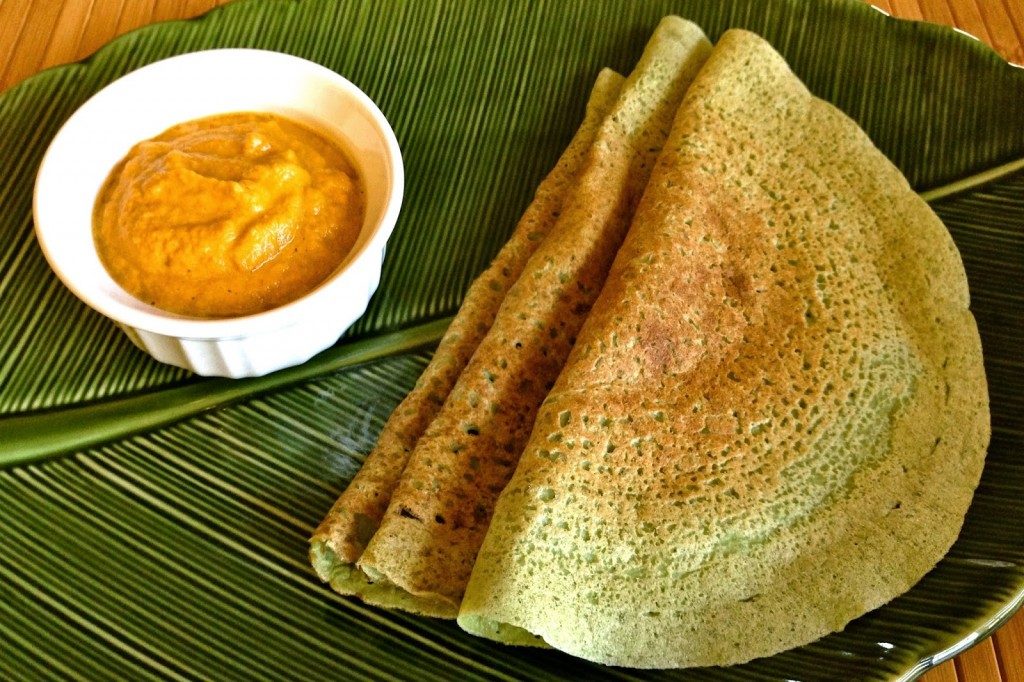 Sprouted Mung Bean & Coconut Dosa