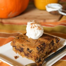 Pumpkin Blondies- Gluten Free & Vegan