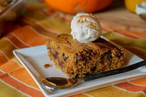 Pumpkin Blondies - Gluten Free & Vegan-6433