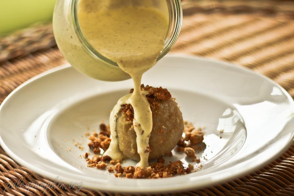 Apricot Dumpling with Vanilla Custard Paleo