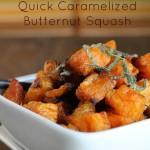 Simple Paleo Roasted & Caramelized Butternut Squash