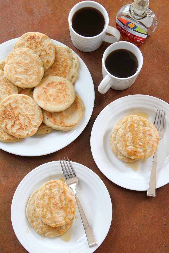 gluten free yeasted pancakes (sourdough)