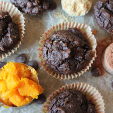 Paleo Chocolate Butternut Muffins