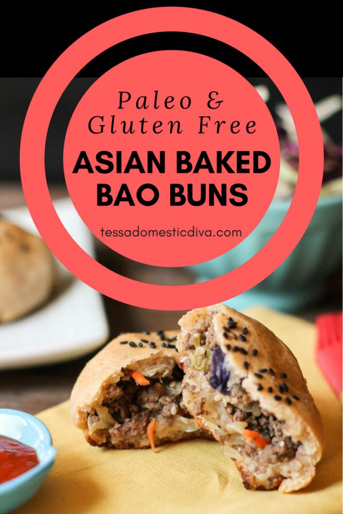 Paleo - Gluten Free Asian Baked Bao Buns #glutenfree #paleo #whole30 #hamburger #bao